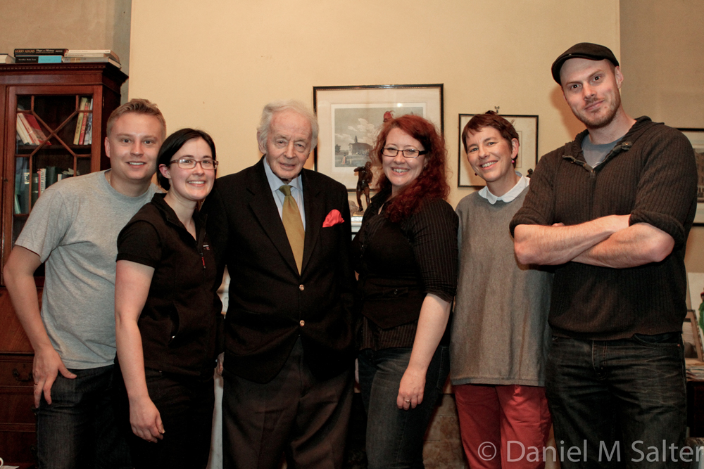 Daniel Salter, Saraj Alkemade, Ulick O'Connor, Sally McLean, Anna Harrison and Tim Egan after filming Ulick's interview