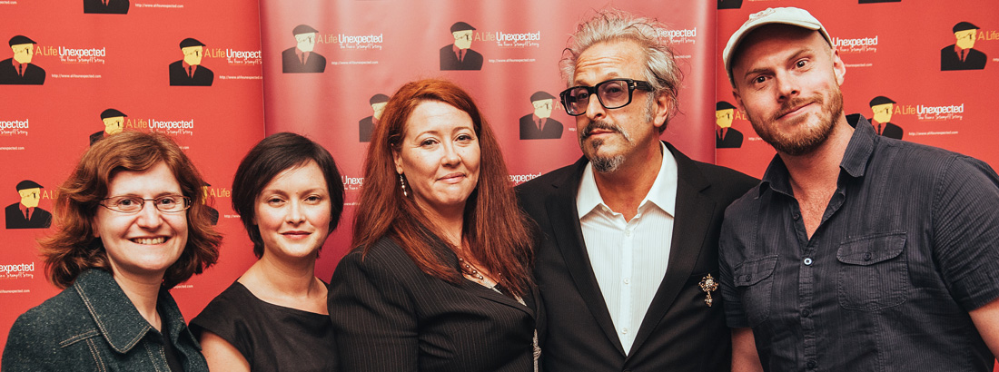 """Some of the """"A Life Unexpected"""" team - L-R: Laura Wagner (German Translations), Melanie Brunt (Producer), Sally McLean (Writer/Director/Producer), Robert L Galinsky (Executive Producer) & Tim Egan (Director of Photography)"""