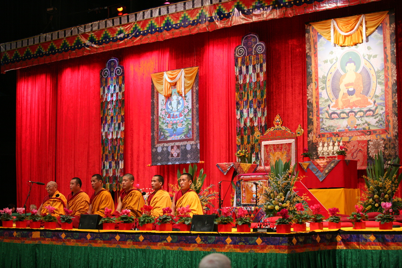 Gyuto Monks in concert on gompa